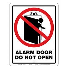 maxwell sn 102 alarm door do not open sign 8 5 x 11 red
