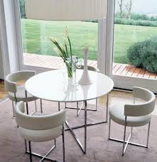 glass round dining table for 4 modern chrome furniture accessories at craft steel interiors in 17