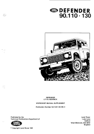 Range Rover Defender V8i Electrical Library Rover Pdf Download Service Manual Repair Manual Pdf Download Defender Repair Manuals Pdf Download