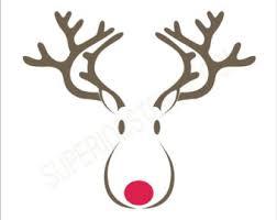 christmas card stencils rudolph stencil etsy