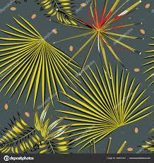 Abstracte Kleur Tropische Laat Donkere Grijze Achtergrond Naadloze