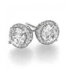 1 2 carat diamond stud earrings view 3
