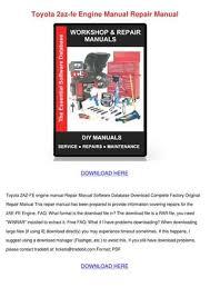 Toyota 2az Fe Engine Manual Repair Manual by HarrietFarrar - issuu