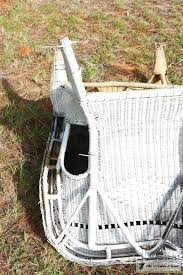painting wicker furnitureHow to Spray Paint Wicker Furniture  The Crowned Goat
