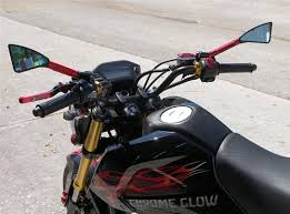 tomahawk billet motorcycle mirrors for the honda grom msx 125 and