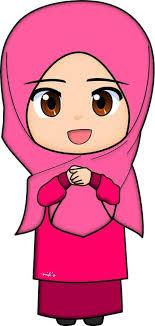 Islam Clipart Muslimah Cartoon Jokingartcom Eid Mubarak Clipart