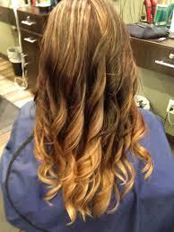 Carmel Blonde Ombré On Long Hair