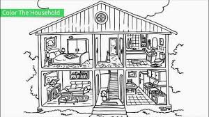 Amazing Design House Coloring Pages Free Printable For Kids ...