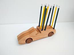 Accessories: Wooden Block With Vase Desktop Pen Holder - Home Office