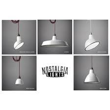 enamel lighting. nostalgia lights enamel pendant shade set white nook london u0026 u2013 industrial vintage lighting r