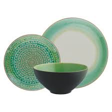 dinner plates uk only. sintra green 12 piece dinner set plates uk only