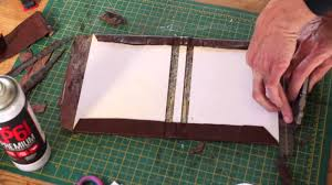 making a leather bound hardcover notebook journal simple diy maker project school or college book you