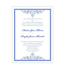 Royal Invitation Template Wedding Invitation Vintage Royal Blue Diy