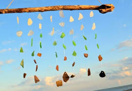 sea glass wind chime seashell materials sea glass wind chimes diy sea glass wind chime sea