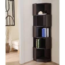 good looking corner bookshelf