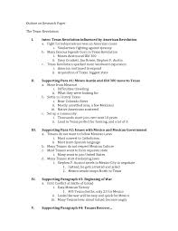 Paper Outline For Template Essay High School How To Set Up Research