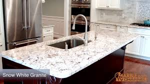 White Kitchen With Granite Snow White Granite Kitchen Countertops Youtube