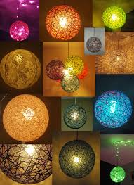 balloon ball string fabric stiffener battery operated led light bulb with