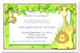 Free Printable Safari Birthday Invitations Jungle Theme Birthday Invitation Template Arianet Co