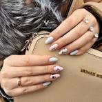 Миндалевидные ногти дизайн 2017 157