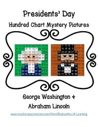 Lincoln Presidency Chart Presidents Day George Washington Abraham Lincoln Hundred Chart Mystery Pictures