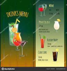 Drinks Menu Template Drinks Menu Template Stock Vector © Macrovector 24 23