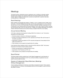 board of directors minutes of meeting template board of directors meeting agenda template 8 free word pdf