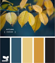 family room color - navy, yellow, orange navy blue color scheme --> color  scheme for in a kitchen