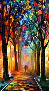 alley of the dream palette knife oil painting on canvas by leonid afremov size x painting cm by leonid afremov original recreation oil painting on