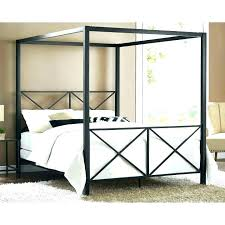 Platform Canopy Bed Twin Size Canopy Bed Twin Wood Canopy Bed Medium ...