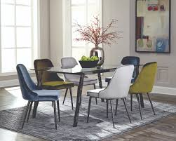 blue dining room set. Wonderful Room Scott Living Dining Table With Chair Black Nickel  INSLEE Room Set  In Blue R