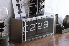 leff brick flip clock 2 brick desk wall clock