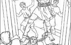 Kleurplaat Bijbel Mooi Simson Gkv Apeldoorn Zuid Bijbelknutsels