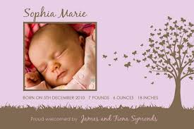 Baby Thankyou Personalised Invitations For Baby Showers Baby Announcement