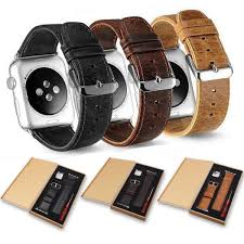 top grain leather watch band strap compatible with apple watch series 4 40mm 44mm series 3 2
