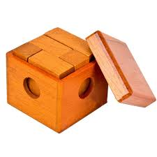 Wooden Games For Adults Classic IQ Mind Wooden Magic Box Puzzle Game for Adults Children 53