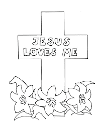 Jesus Loves Me Coloring Pages Love Me Cross Coloring Page Jesus