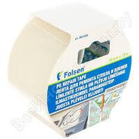 «<b>Лента клейкая FOLSEN</b> 50 мм х 10м для ремонта стекла и ...