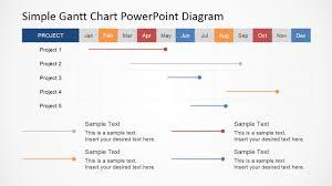 Simple Gantt Chart Powerpoint Diagram