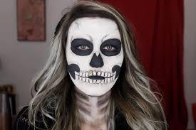 10 full face skeleton makeup