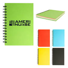 5 X 7 Spiral Notebook With Colored Paper Promotion Pros
