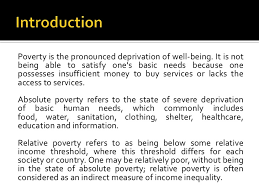 causes and effects of poverty poverty