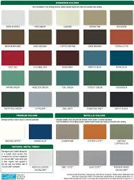 Steel Roof Color Chart Berridge Metal Panels Color Chart In 2019 Metal Roof