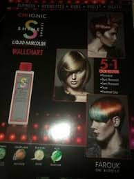 Details About Chi Haircolor Ionic Shine Shades Hair Color Booklet Chart Newest Wall Chart