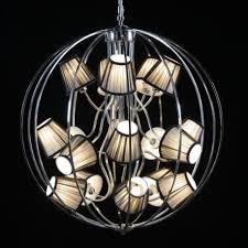 reduced chrome extra large sphere shade chandelier