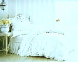White Shabby Chic Bedding French White Ruffles King Comforter With ...