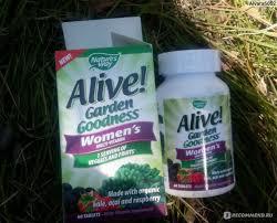 БАД nature s way alive garden goodness women s multivitamin 60 tablets фото
