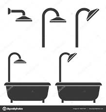 shower and bath tub silhouette icon for hotel stock vector