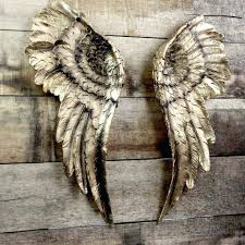 gold angel wings wall decor full size of paintsresin angel wings wall decor with