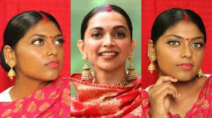 wedding guest makeup tutorial inspired by deepika padukone dark indian skin